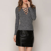 Slim-fit Long-sleeved Sweater Knit