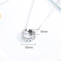 Copper Plated Pendant Star And Moon Necklace Female Clavicle Chain Three Kinds Of Wearing