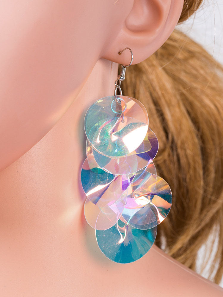 Fashion Earrings Personality Original Geometric Sequins Women's Earrings Temperament Fashion Accessories