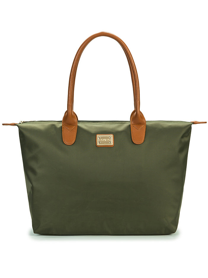 Solid Color Simple Retro Oxford Leather Tarpaulin Bag