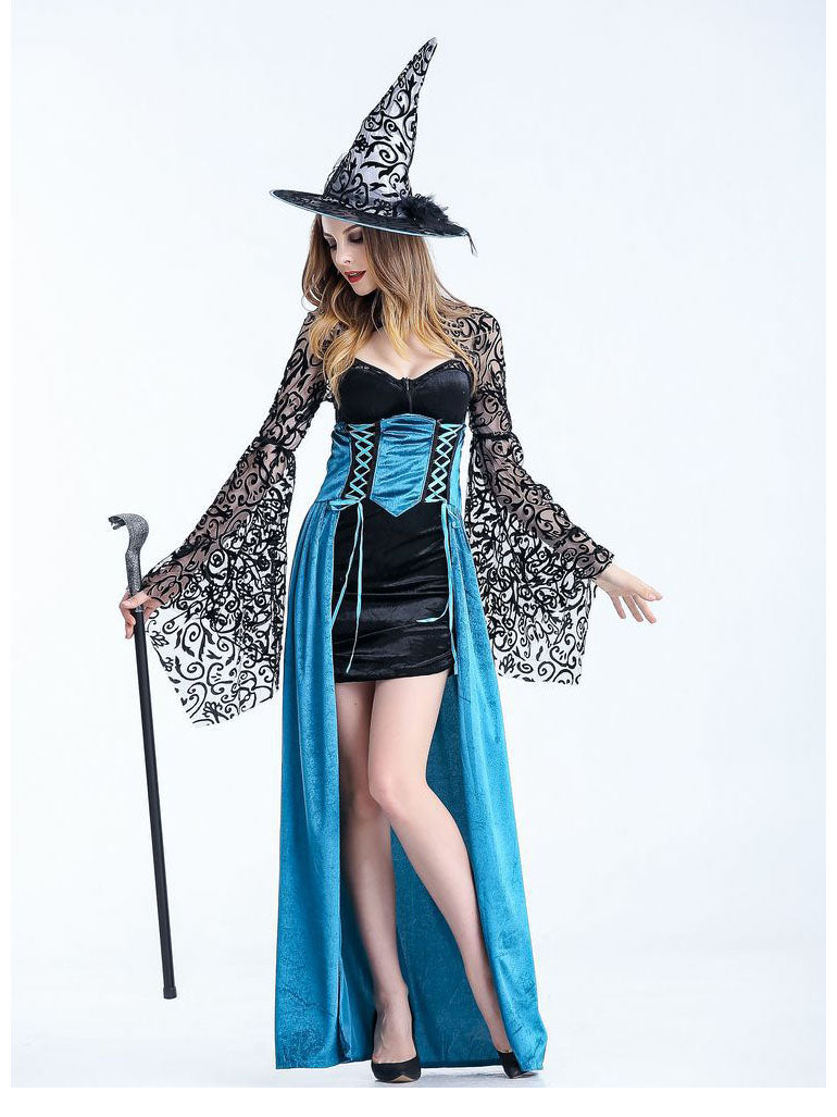 Halloween Costume Game Uniform Witch Cosplay Long Role Play Party Masquerade Costume