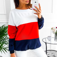 Casual Stitching Sweater Top