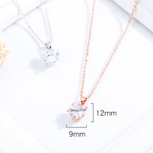 Copper Plated Jewelry Rose Gold Zircon Clavicle Necklace
