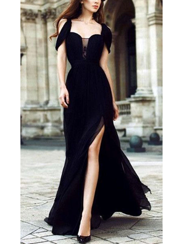 Elegant and Elegant Chiffon Evening Dress