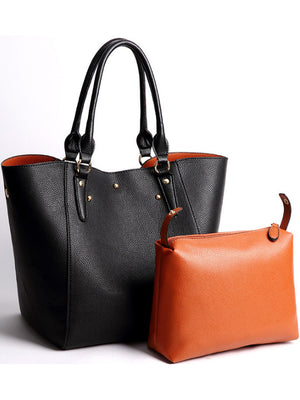 New Retro Large Shoulder Bag Two-piece Package