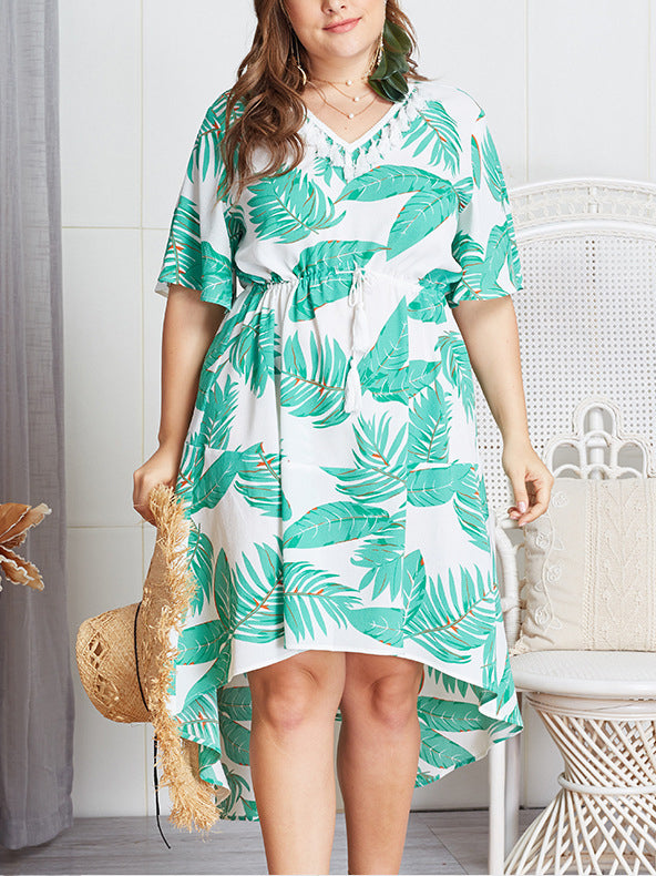 Plus Size Short Sleeve Loose Dress
