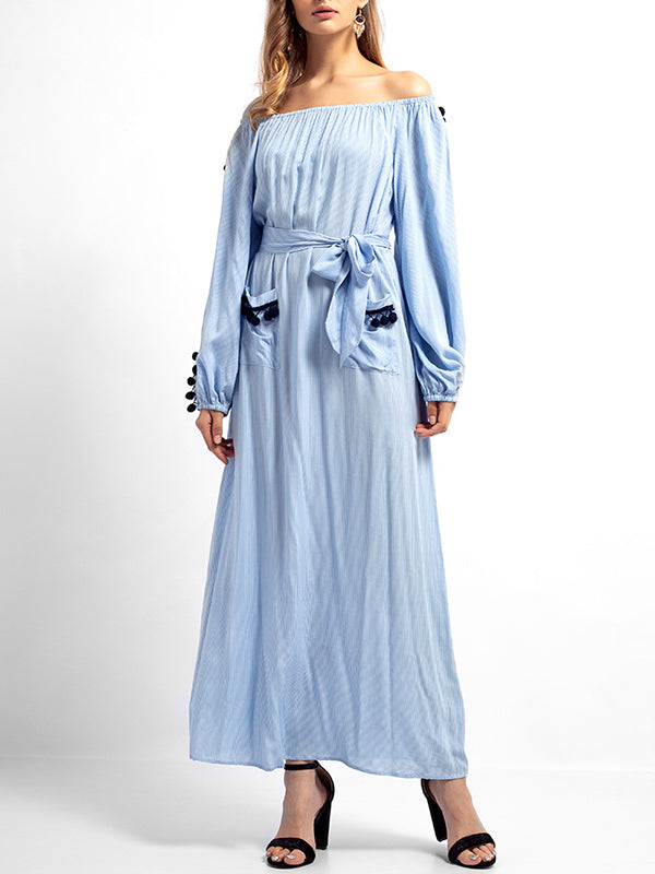Long-sleeved Dress In Muslim Style
