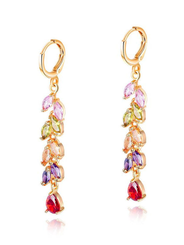 Copper-plated Diamond-studded Ladies Earrings Fashion-studded Earrings