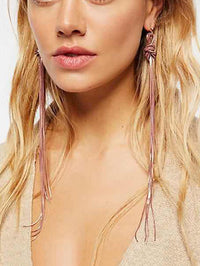 Vintage Alloy Winding Tassel Earrings Temperament Wild Women's Earrings