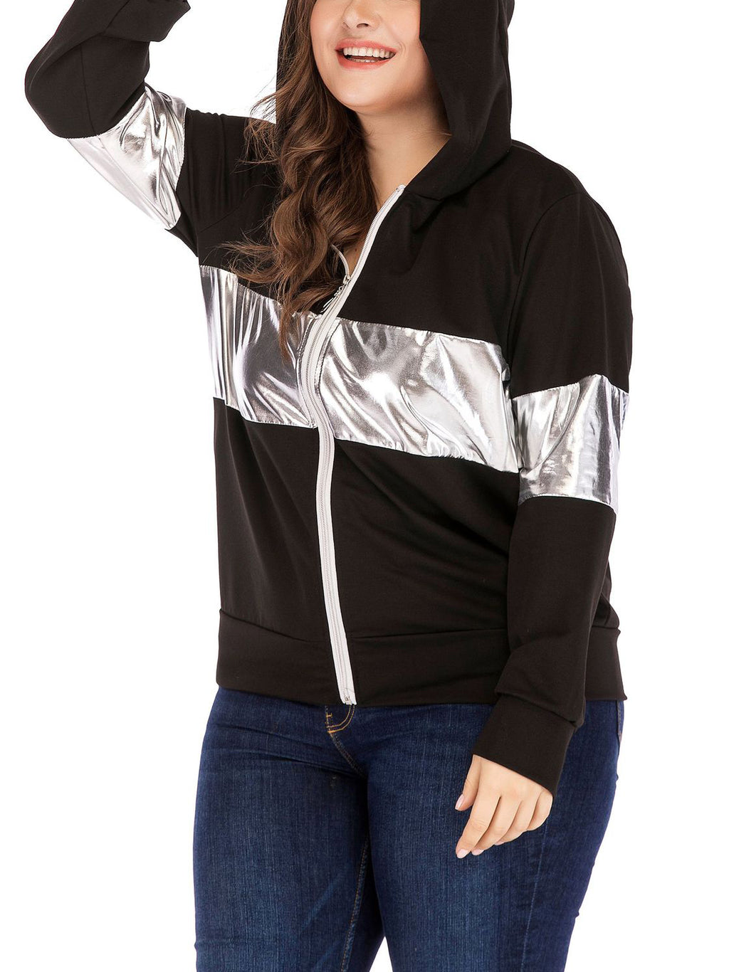 Cute Ear Hooded Women's Large Size Coat