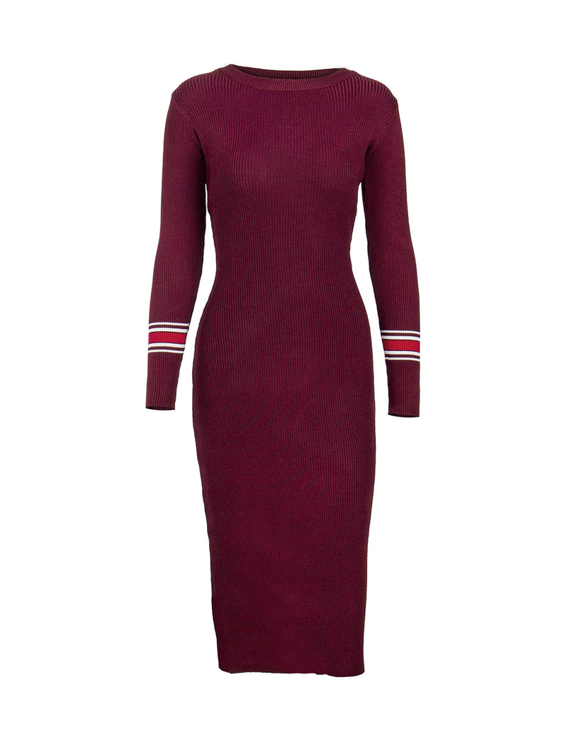 New Autumn and Winter Slim Knit Dress