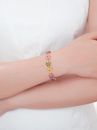 Colorful Ttemperament Bracelet Imitation Gold Inlaid Diamond Bracelet