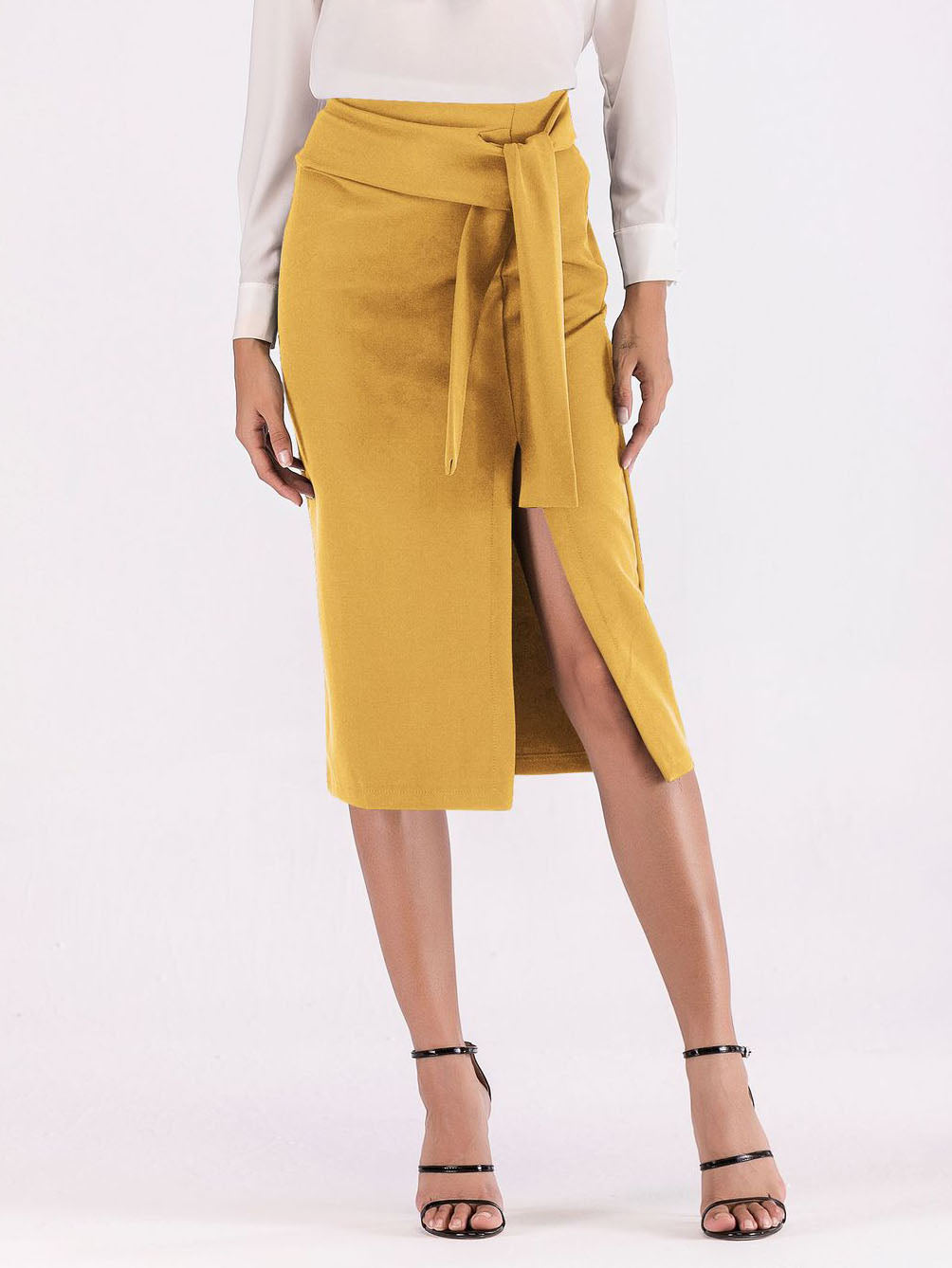 Spring New Women's Skirts Slit Small Sexy Slim Skirt Women