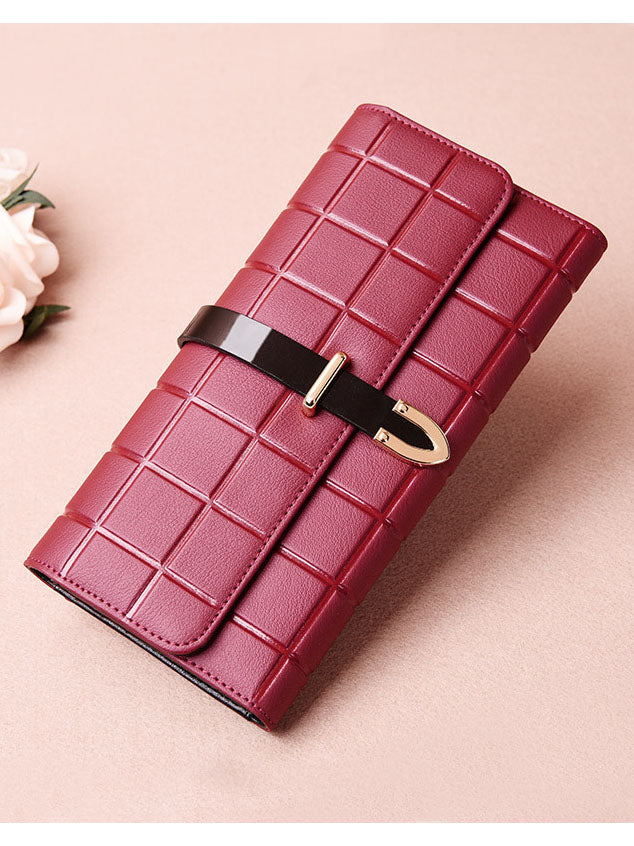 Women's Wallet Long Fashion Wild Small Handbag Large Capacity Leather Wallet