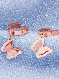 Frosted Double-layered Three-dimensional Butterfly Earrings