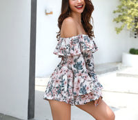 Long Sleeve Sexy One-neck Casual Print Jumpsuit
