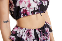 Printed Casual Chiffon Top Shorts Two-piece Set
