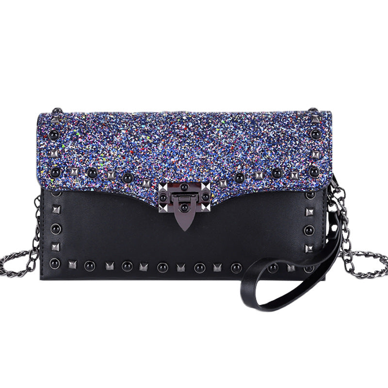 Women's Handbags Sequins Personality Fashion Temperament Banquet Clutch Bag