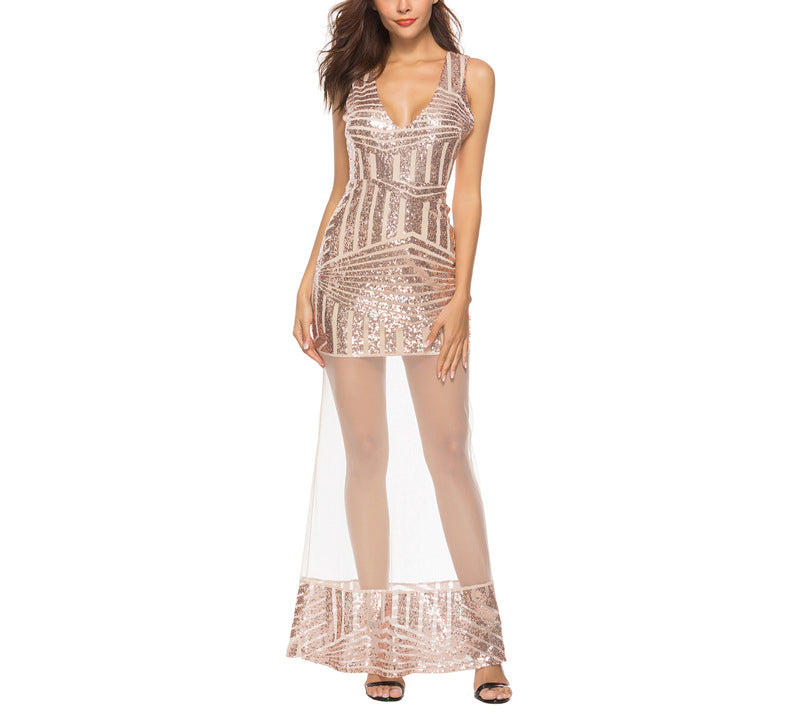 New Sexy Sling Sequined Dress