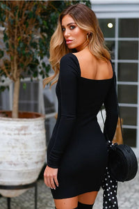 Long-sleeved Slim Sexy Hip Dress Spring and Summer Women