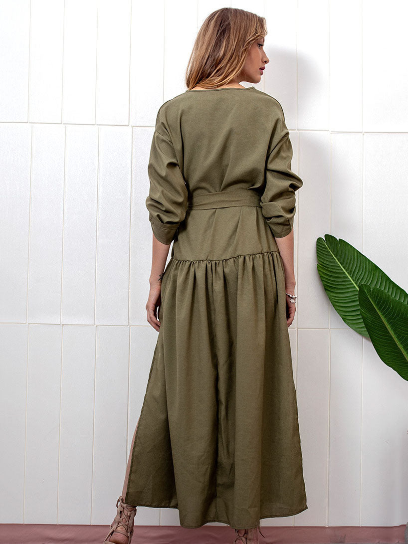 Autumn and Winter New Long-sleeved Dress Long Skirt Women's Clothing