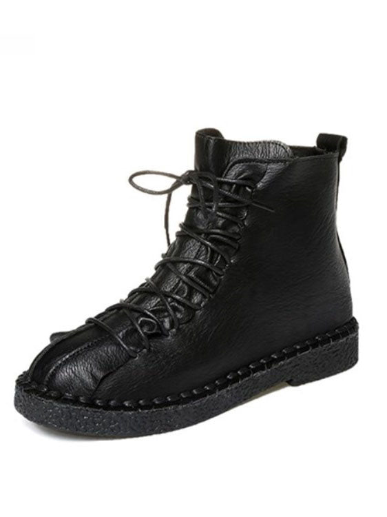 Autumn and Winter Boots Women's British Wind Martin Boots Thick-soled Student Cotton Shoes Flat