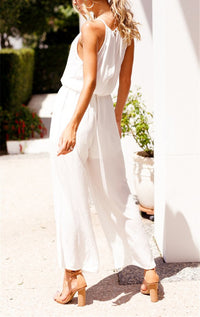 Casual Off-the-shoulder Jumpsuit