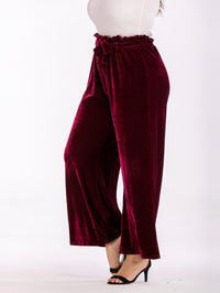 Plus Size Wide-leg Causal Pants