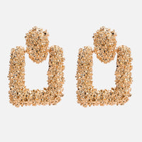 Fashion Jewelry Personality Wild Geometric Square Metal Earrings Female