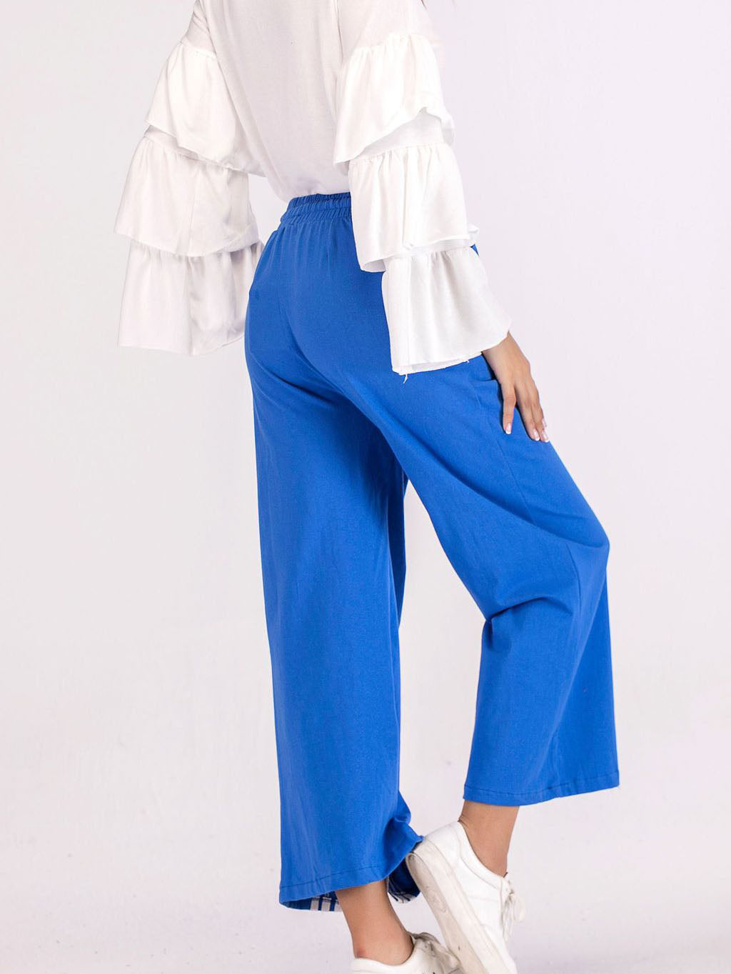 Spring New Women's Casual Pants Split Fork Wide Leg Casual Pants
