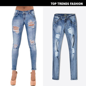 Women's Low Waist Slim Stretch Denim Pants