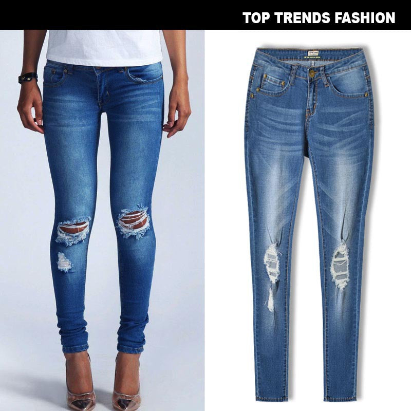 Women Super Stretch Low Waist Jeans