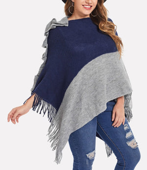 Plus Size Women's Sweater Shawl
