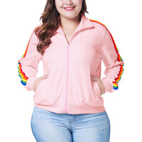 Large Size Women's Fat Mm Autumn and Winter Wear Ladies Jacket Cardigan Baseball Uniform