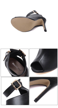 Summer Super High Heel Fish Mouth Cool Boots Stiletto Buckle Fashion Women's Boots Sexy Sandals