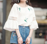 Loose Wild White Short-sleeved T-shirt