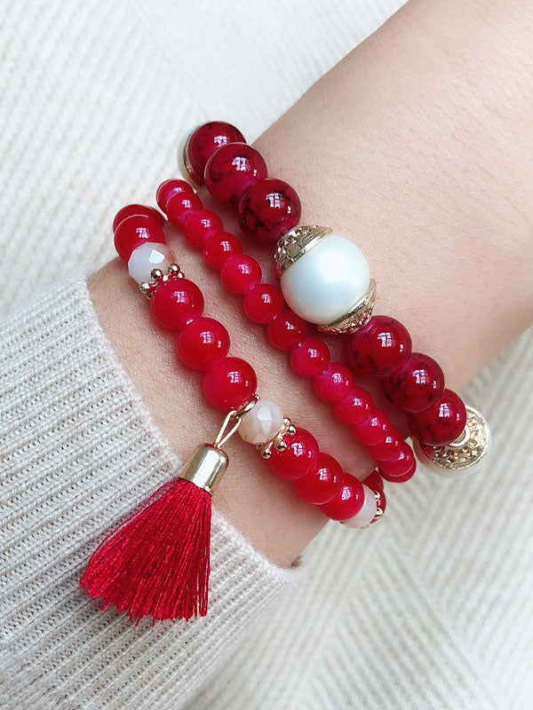 Elastic Rope Bracelet Color Multi-layer Beaded Bracelet Girlfriend Philippine Jewelry