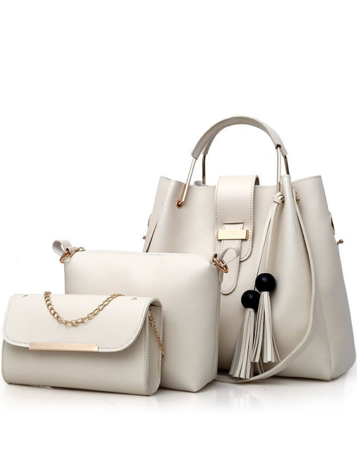 Three-piece Tassel One-shoulder Diagonal Handbag