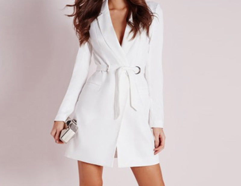 V-neck long-sleeved fashion dress jacket