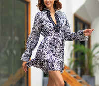 New Leopard Temperament Commuter Large Size Dress