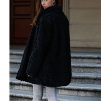 Not Down Velvet Women's Jacket Artificial Hair Warm Long Coat