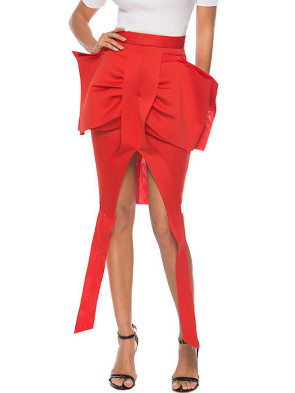 New Big Bow Bodycon Skirt