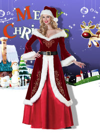 XL Christmas Ball Party Service Christmas Service COS Costume Uniform Couple Santa Stage Dress