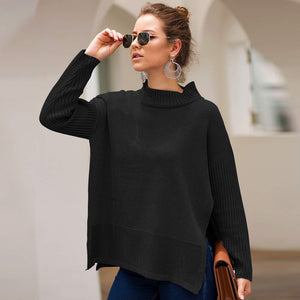 Autumn and Winter Sweater Women's Long-sleeved Round Neck Three-color Loose Pregnant Women's Knit Top