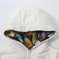 Winter Solid Color Long Sleeve Hooded Down Jacket