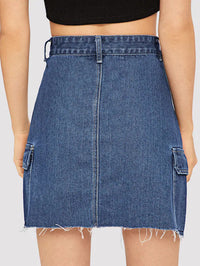 Women Fashion Casual Denim Skirt