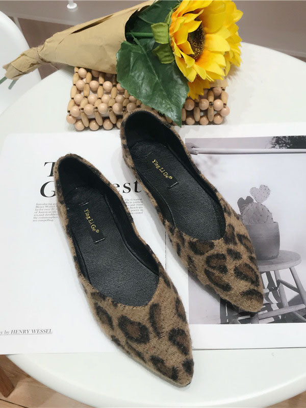 Autumn New Fashion Wild Leopard Women's Shoes Flat Elegant Women's Shoes