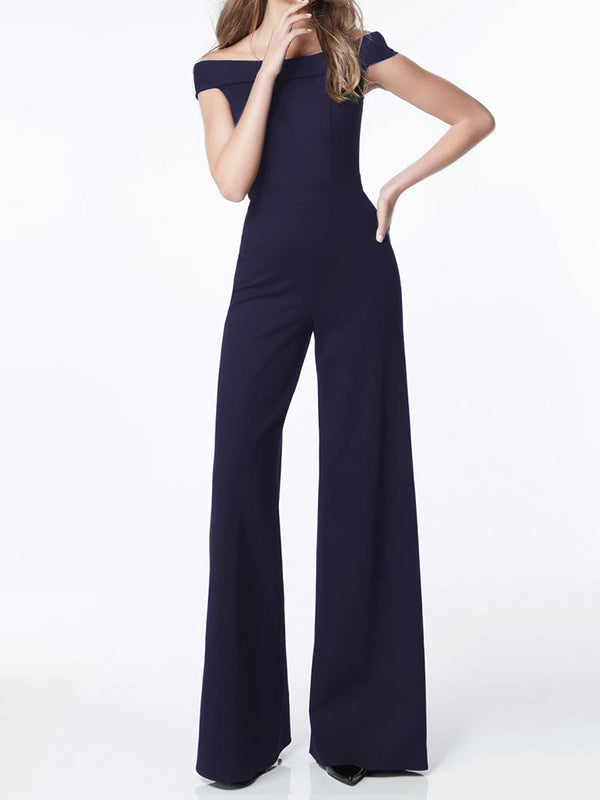 Sexy Word Shoulder Thin Waist Slim Bodysuit