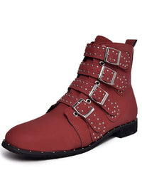 Autumn and Winter Large Size Retro Comfortable Flat with Low Tube Women's Boots Martin Boots