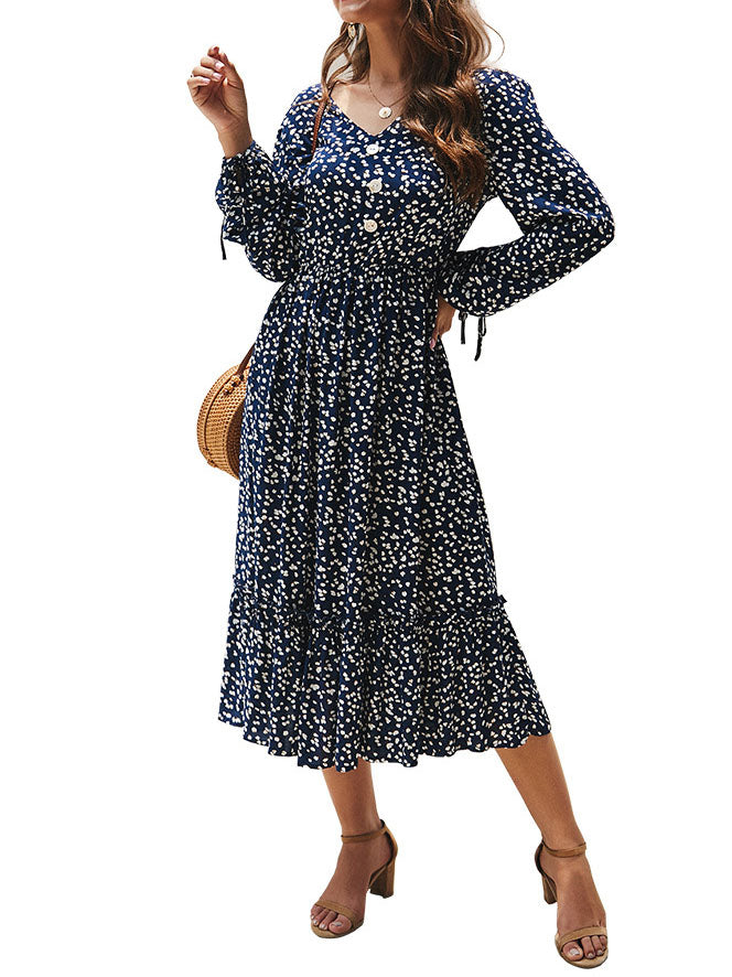 Autumn and Winter Long Sleeve Elegant Fashion Dress